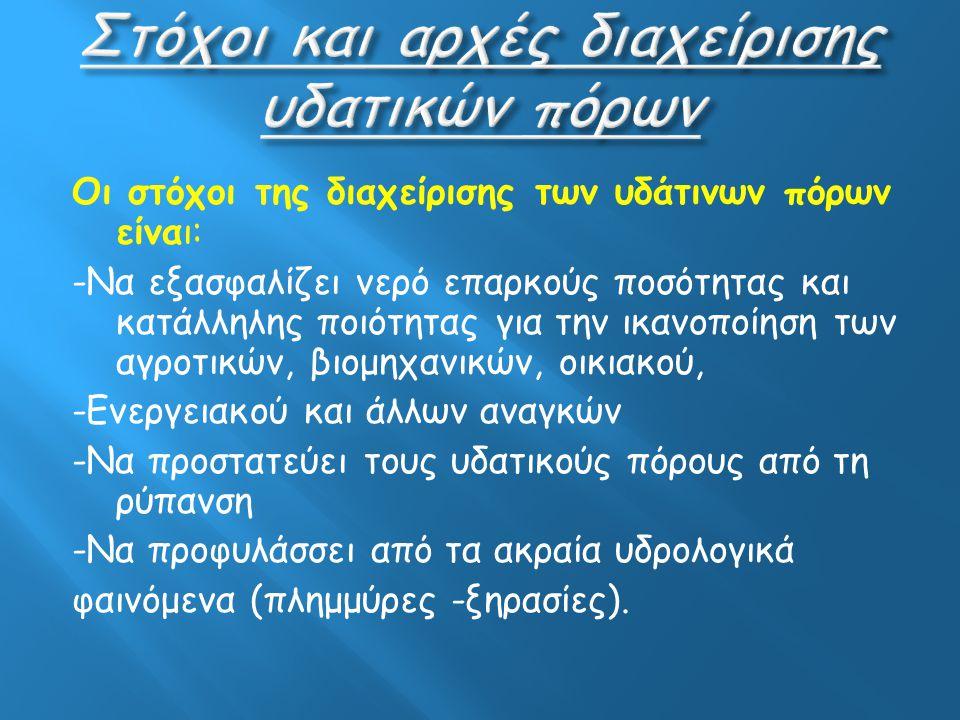 1.Εισαγωγή 2.Υδρολογικός Κύκλος 3.Μέθοδοι άρδευσης-ύδρευση 4.Υδατοκαλλιέργειες 5.Υδροηλεκτικό εργοστάσιο 6.Γεωθερμία 7.Οι προτάσεις μας