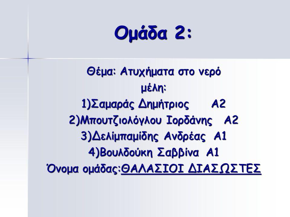 Ομάδα 1: Θέμα: Κυκλοφοριακή Αγωγή μέλη: 1)Δελιπαμιδου Ιωάννα Α1 2)Δαμιανού Ιωάννης Α1 3)Τσολάκου Μάριος Α3 4)Ντουσνίκο Ορέστης Α2 Όνομα ομάδας: ΟΙ ΟΔΗ