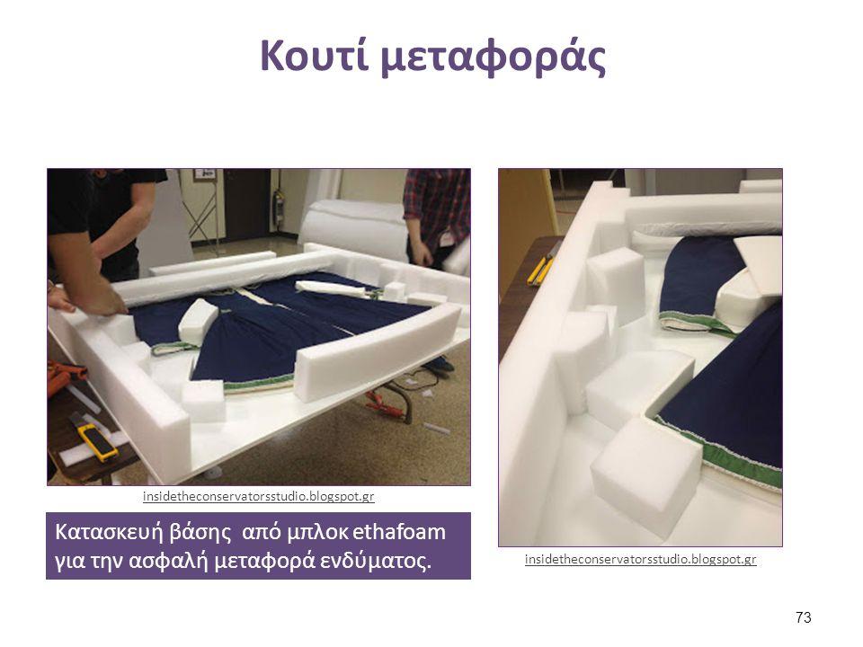 Κουτί μεταφοράς Κατασκευή βάσης από μπλοκ ethafoam για την ασφαλή μεταφορά ενδύματος. insidetheconservatorsstudio.blogspot.gr 73