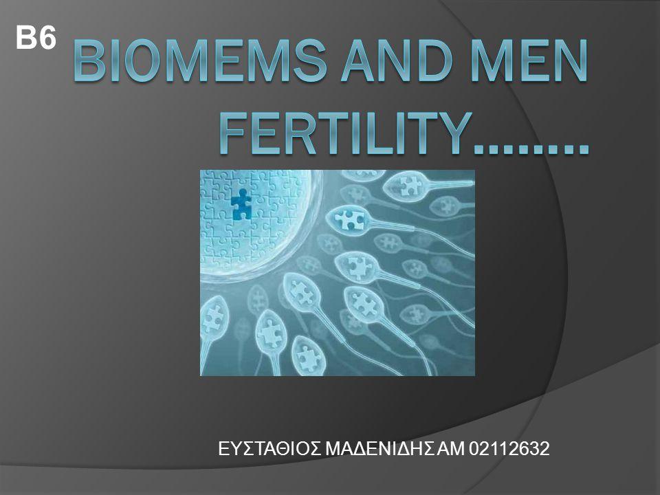 Outline  Φυσιολογικά χαρακτηριστικά του σπέρματος και πως μπορούν τα Biomems να βοηθήσουν στην ανάπτυξη μεθόδων ανίχνευσης της γονιμότητας.