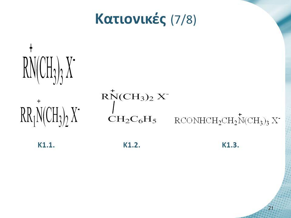 Κατιονικές (7/8) Κ1.2. 21 Κ1.1.Κ1.3. +