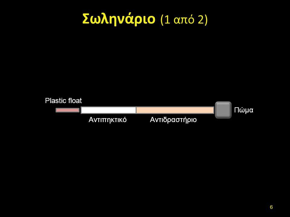 Σωληνάριο (2 από 2) Plastic Float Τοποθετείται στο σωληνάριο με λαβίδα ή με το πώμα.