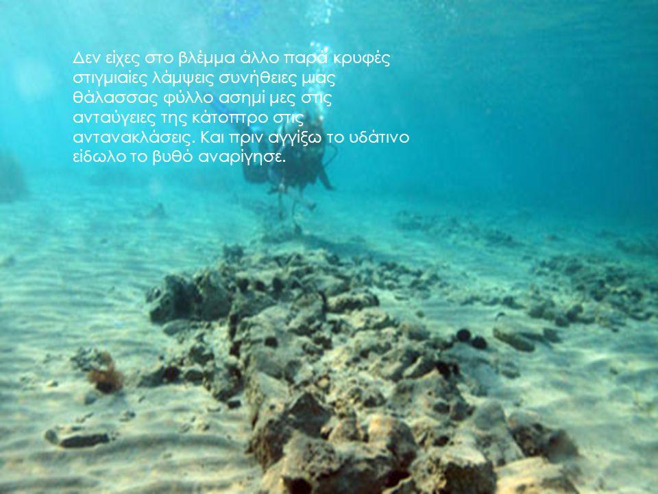 Δεν είχες στο βλέμμα άλλο παρά κρυφές στιγμιαίες λάμψεις συνήθειες μιας θάλασσας φύλλο ασημί μες στις ανταύγειες της κάτοπτρο στις αντανακλάσεις. Και