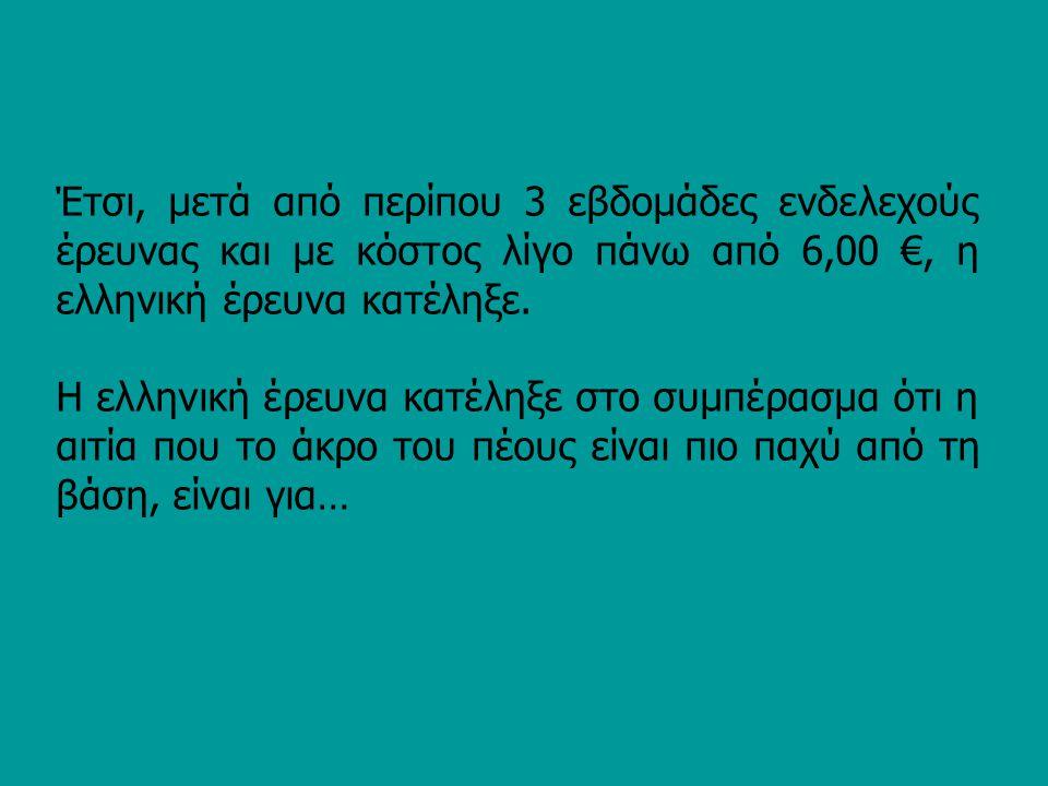 Έτσι, μετά από περίπου 3 εβδομάδες ενδελεχούς έρευνας και με κόστος λίγο πάνω από 6,00 €, η ελληνική έρευνα κατέληξε.