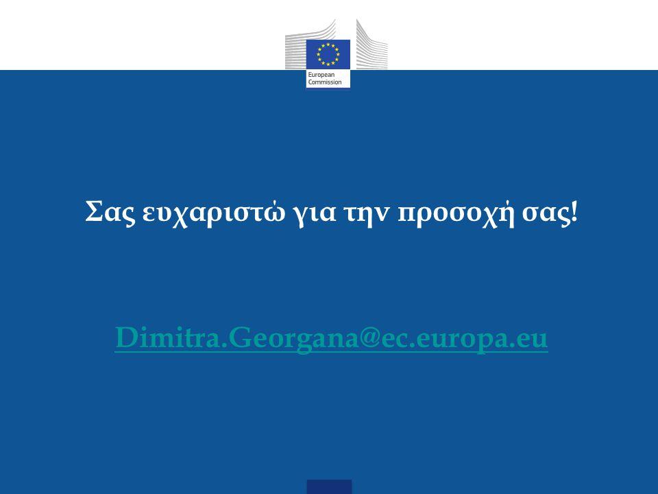 Σας ευχαριστώ για την προσοχή σας! Dimitra.Georgana@ec.europa.eu