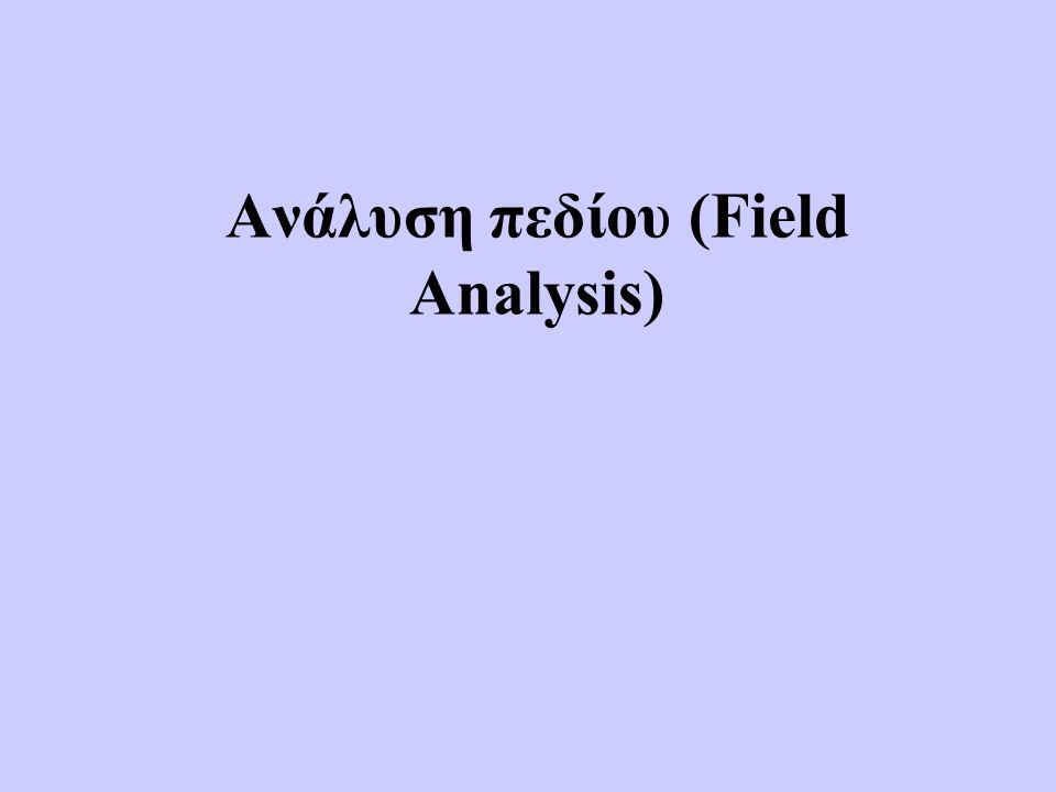 Ανάλυση πεδίου (Field Analysis)