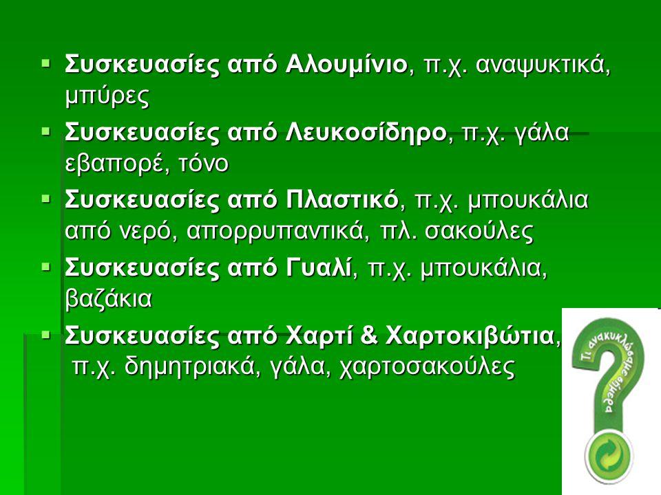 Σχετικές Ιστοσελίδες - Φορείς http://www.larissa-dimos.gr/larissa/anakyklosh/NEWS/ereuna_anakyklosh_Larisas.pdf http://www.herrco.gr/default.asp?siteid=1&pageid=13&langid=1 http://www.herrco.gr/herrco_movie2.html ΚΕΝΤΡΟ ΔΙΑΛΟΓΗΣ ΑΝΑΚΥΚΛΩΣΙΜΩΝ ΥΛΙΚΩΝ ΖΑΚΥΝΘΟΥ Το φωτογραφικό υλικό καθώς και πολύτιμες πληροφορίες είναι από την επίσκεψη μας στο Κ.Δ.Α.Υ.