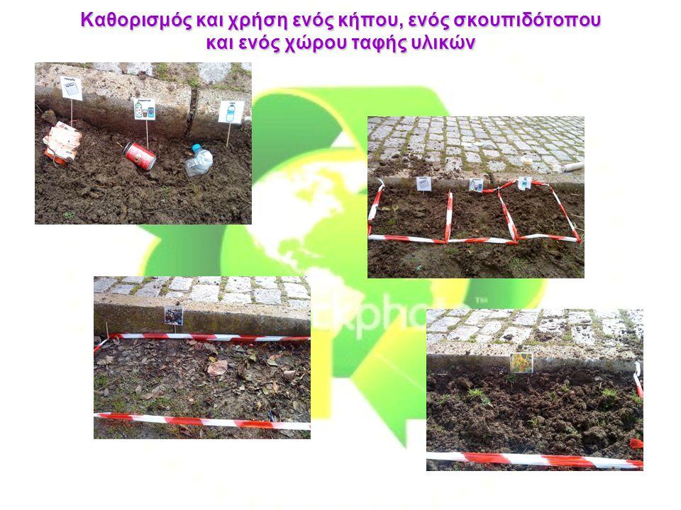 Καθορισμός και χρήση ενός κήπου, ενός σκουπιδότοπου και ενός χώρου ταφής υλικών