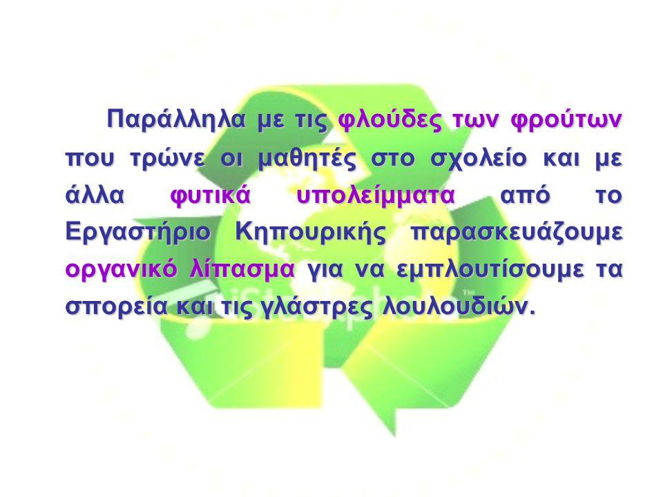 Στόχοι του Προγράμματος Να καταλάβουν οι μαθητές ότι τα σκουπίδια από τους κάδους απορριμμάτων καταλήγουν στις χωματερές (σκουπιδότοπο).