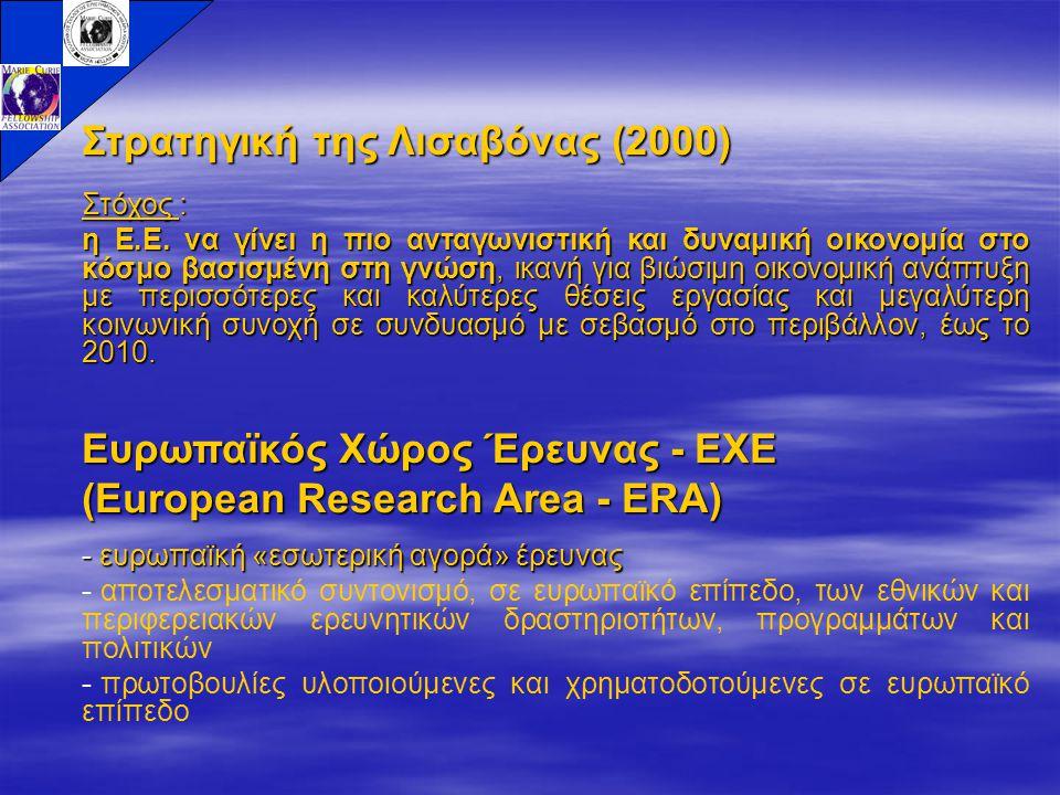 Στρατηγική της Λισαβόνας (2000) Στόχος : η Ε.Ε.