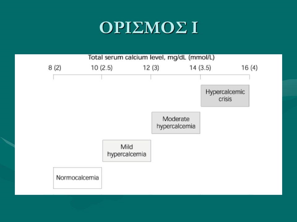 ΟΞΕΙΑ ΝΕΦΡΙΚΗ ΒΛΑΒΗ Σπάνια σε Οξεία Νεφρική Βλάβη, στην πολυουρική φάση, στη ραβδομυόλυσηΣπάνια σε Οξεία Νεφρική Βλάβη, στην πολυουρική φάση, στη ραβδομυόλυση Συμβαίνει λόγω επίμονα αυξημένης έκκρισης παραθορμόνης, ή κινητοποίησης των εξωοστικών εναποθέσεων του ασβεστίου, ή λόγω αυξημένων επιπέδων βιταμίνης-D 3Συμβαίνει λόγω επίμονα αυξημένης έκκρισης παραθορμόνης, ή κινητοποίησης των εξωοστικών εναποθέσεων του ασβεστίου, ή λόγω αυξημένων επιπέδων βιταμίνης-D 3 Αντίθετα σε χρόνια νεφρική ανεπάρκεια υπερασβεστιαιμία εμφανίζεται σε πρωτοπαθή υπερπαραθυρεοειδισμό ή σε τοξικότητα από αλουμίνιοΑντίθετα σε χρόνια νεφρική ανεπάρκεια υπερασβεστιαιμία εμφανίζεται σε πρωτοπαθή υπερπαραθυρεοειδισμό ή σε τοξικότητα από αλουμίνιο