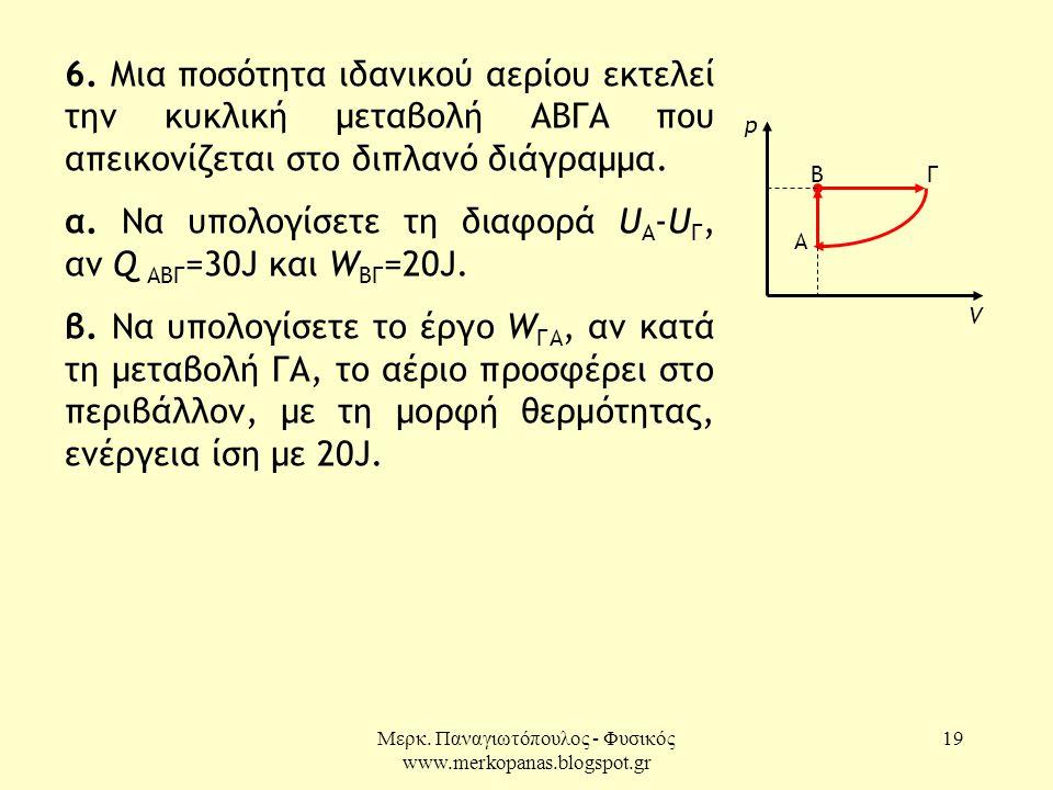 Μερκ.Παναγιωτόπουλος - Φυσικός www.merkopanas.blogspot.gr 19 6.