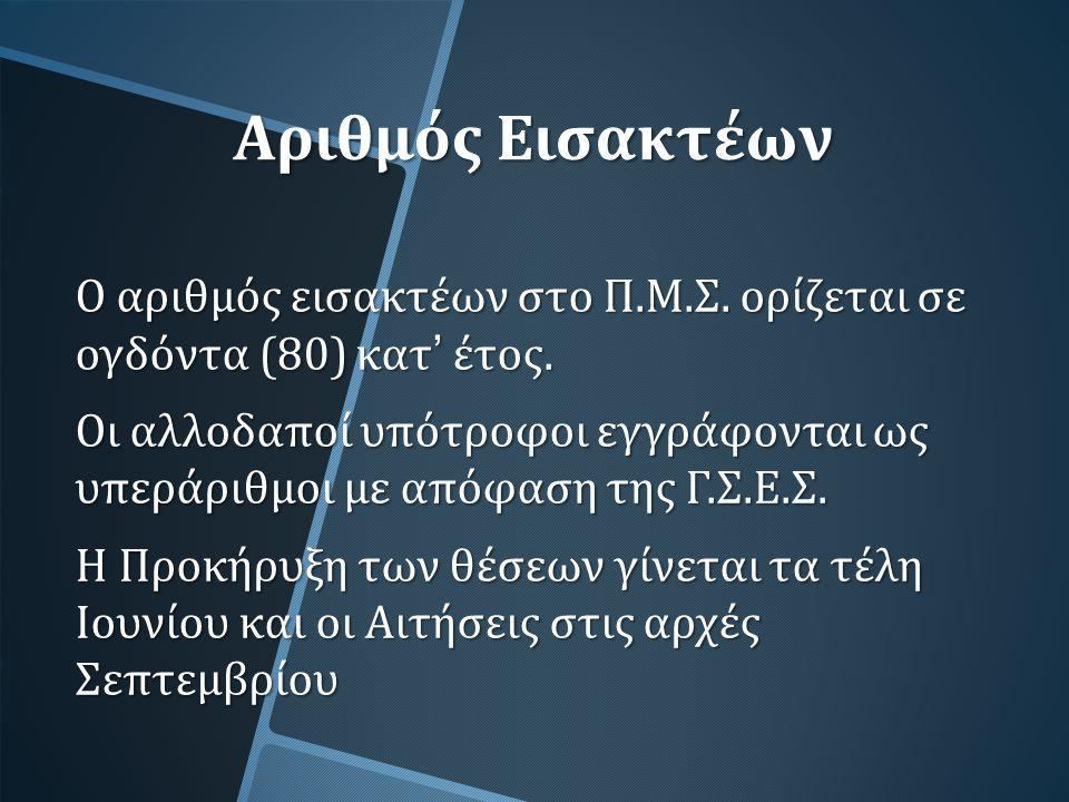 Διαδικασίες εγγραφής Αίτηση με την οποία δηλώνεται η ειδίκευση.