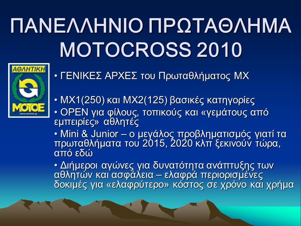 ΠΑΝΕΛΛΗΝΙΟ ΠΡΩΤΑΘΛΗΜΑ MOTOCROSS 2010 ΣΑΣ ΑΚΟΥΜΕ & ΣΑΣ ΠΕΡΙΜΕΝΟΥΜΕ !!!!