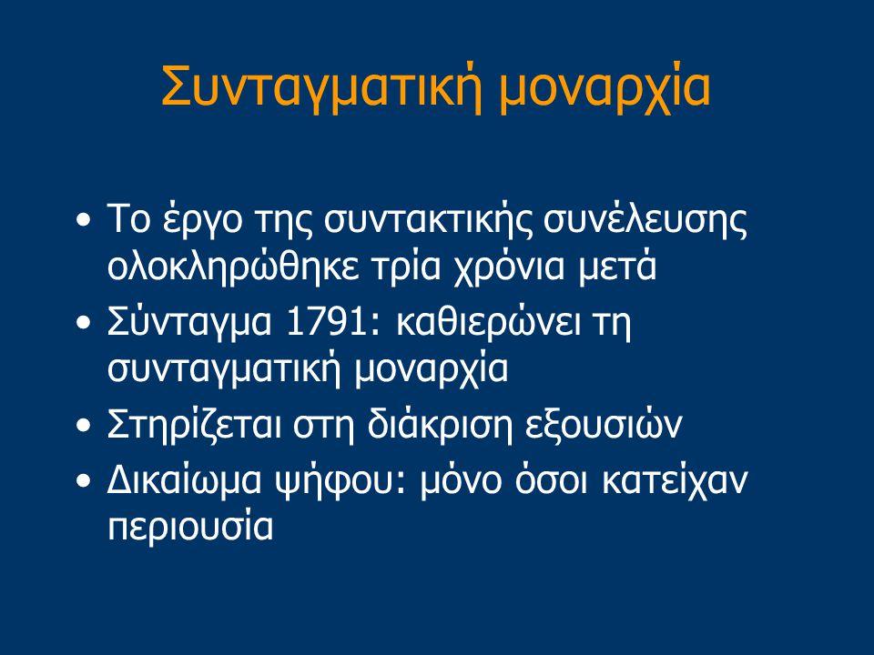 1789-1791: Μικρή πρόοδος Οκτώβριος, 1789: Ο Λουδοβίκος και η οικογένεια του υπό την επιτήρηση των επαναστατών 20 Ιουνίου, 1791: Ο Λουδοβίκος συλλαμβάν