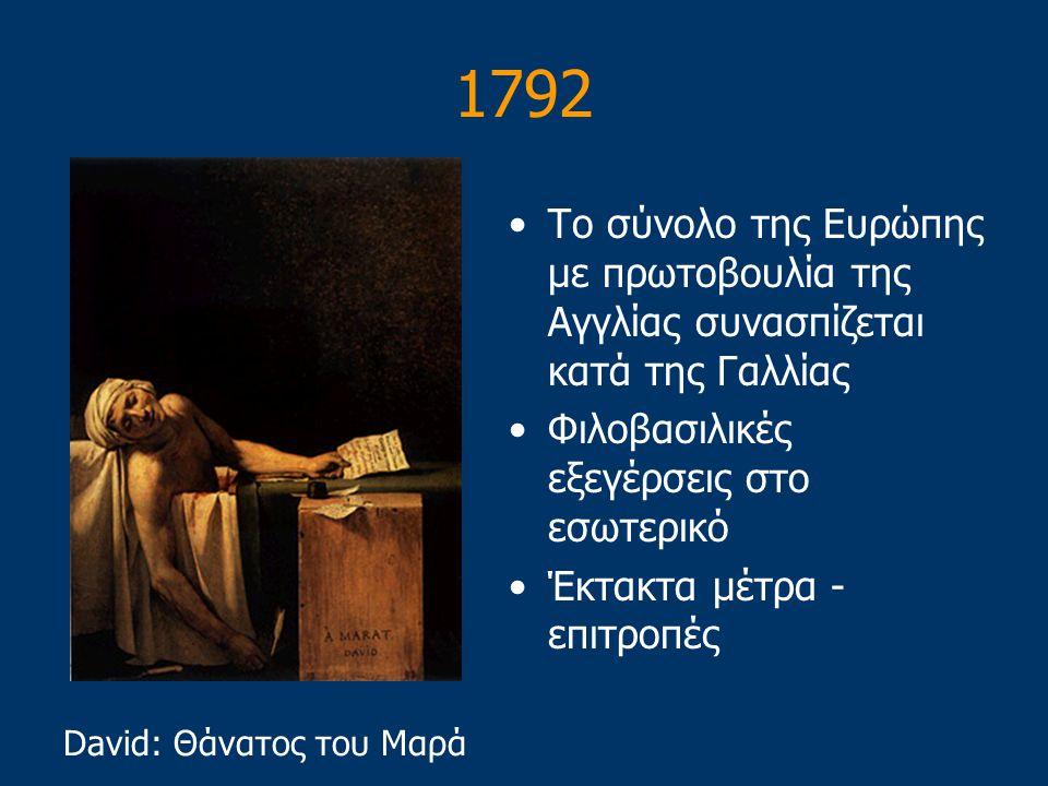 Εκτέλεση του Λουδοβίκου Μετά την καταδίκη του σε θάνατο εκτελέστηκε στη λαιμητόμο – Ιανουάριος 1793