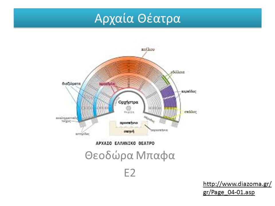 Θεοδώρα Μπαφα Ε2 http://www.diazoma.gr/ gr/Page_04-01.asp Αρχαία Θέατρα