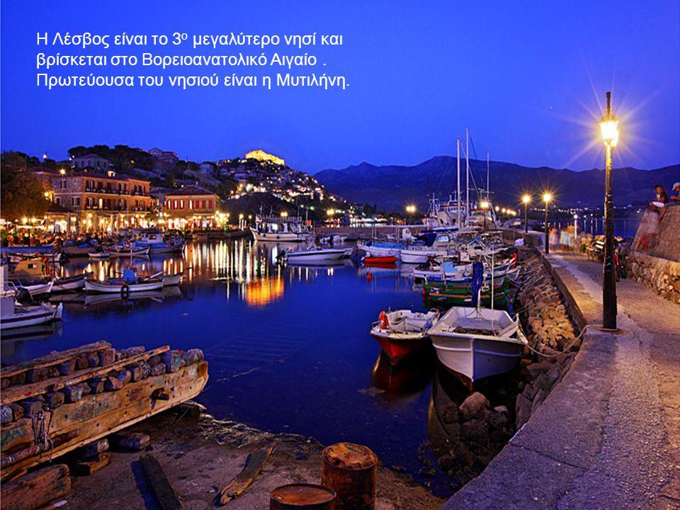 Η Λέσβος είναι το 3 ο μεγαλύτερο νησί και βρίσκεται στο Βορειοανατολικό Αιγαίο. Πρωτεύουσα του νησιού είναι η Μυτιλήνη.