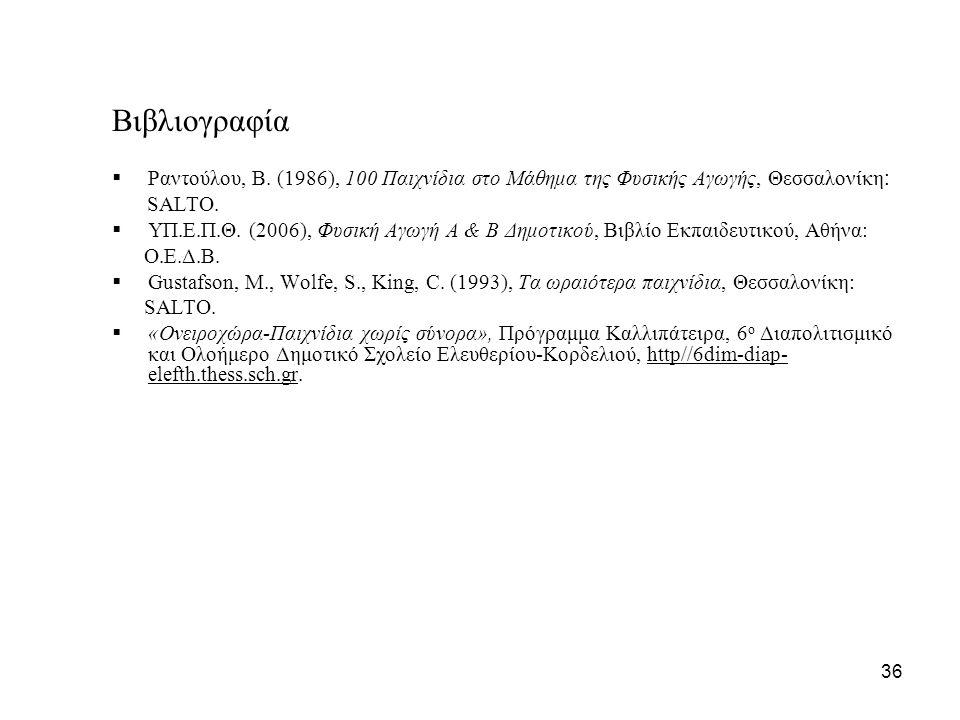 Βιβλιογραφία  Ραντούλου, Β.