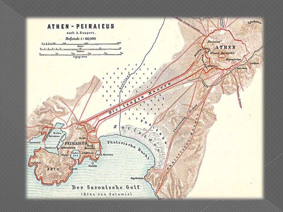 Τα Μακρά Τείχη ήταν αμυντικά τείχη της πόλης των Αθηνών που χτίστηκαν μεταξύ 461 π.Χ.- 455 π.Χ., τα οποία ένωναν την αρχαία Αθήνα με τον λιμένα του Πειραιά.