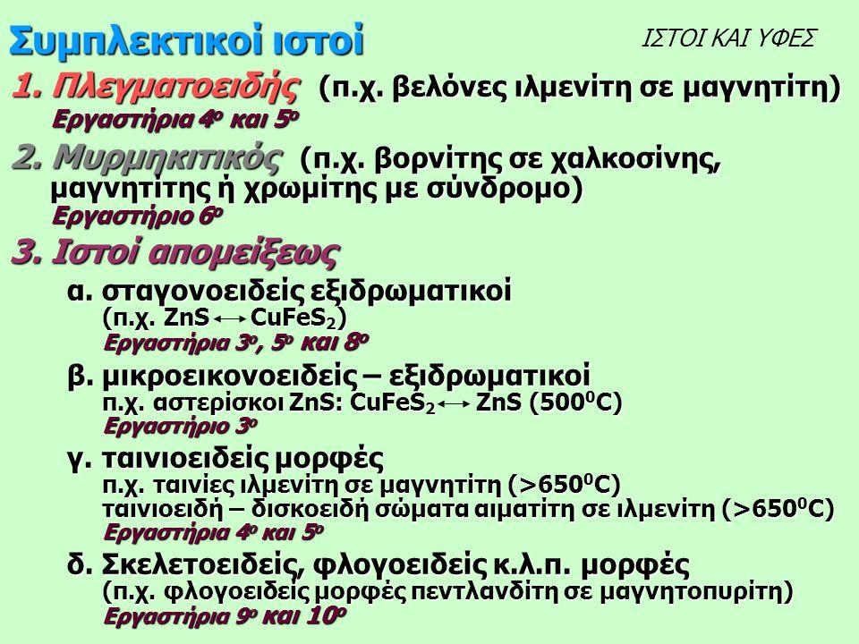 Συμπλεκτικοί ιστοί 1.Πλεγματοειδής (π.χ.