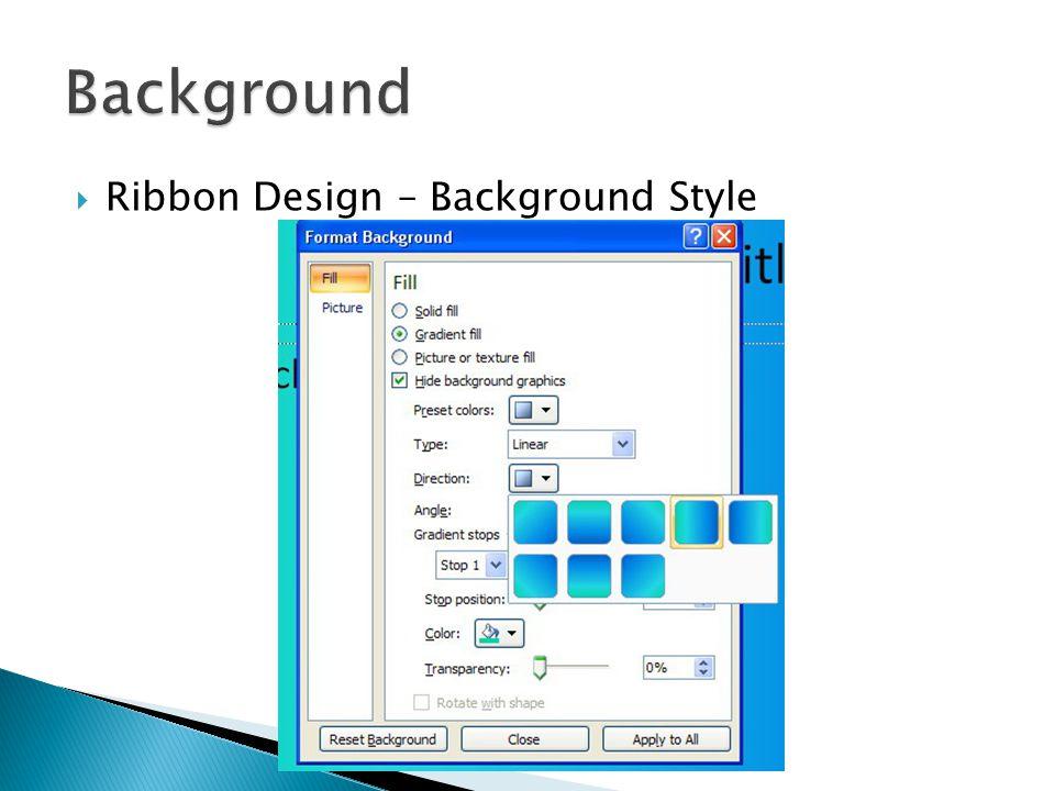 6  Ribbon Design – Background Style