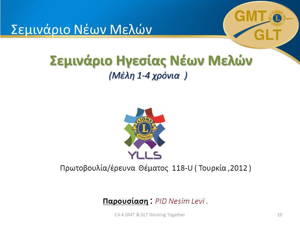 Σεμινάριο Νέων Μελών Σεμινάριο Ηγεσίας Νέων Μελών Σεμινάριο Ηγεσίας Νέων Μελών (Μέλη 1-4 χρόνια ) Πρωτοβουλία/έρευνα Θέματος 118-U ( Τουρκία,2012 ) Παρουσίαση : PID Nesim Levi.