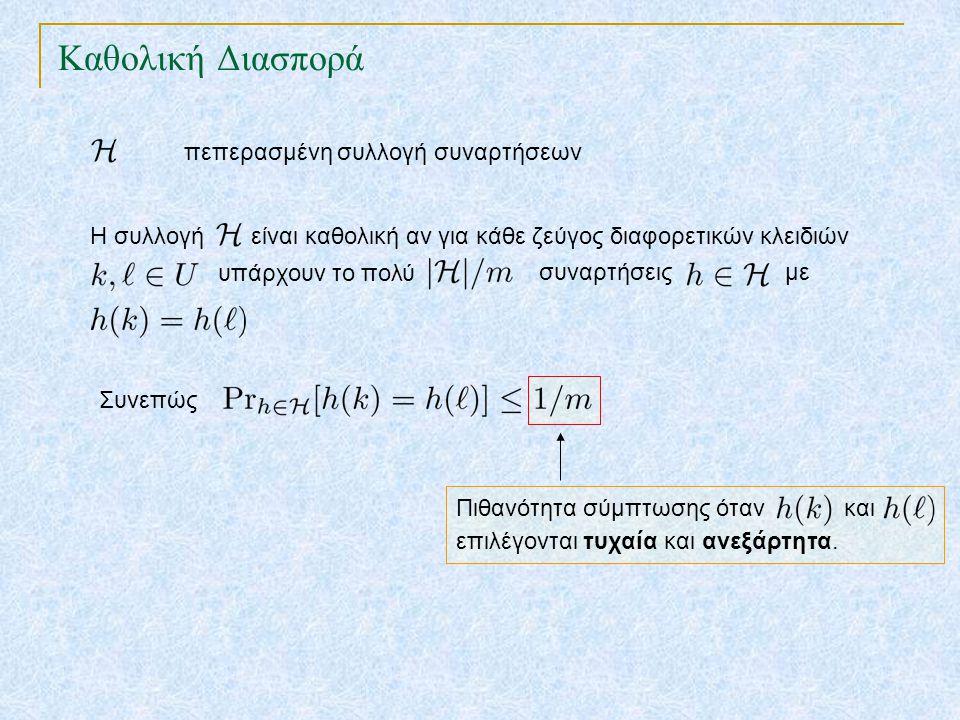 Πιθανότητα σύμπτωσης όταν και επιλέγονται τυχαία και ανεξάρτητα. Καθολική Διασπορά TexPoint fonts used in EMF. Read the TexPoint manual before you del