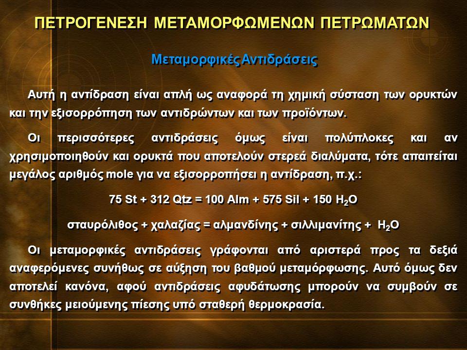 Αυτή η αντίδραση είναι απλή ως αναφορά τη χημική σύσταση των ορυκτών και την εξισορρόπηση των αντιδρώντων και των προϊόντων.