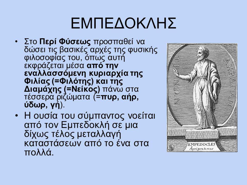 ΑΡΙΣΤΟΤΕΛΗΣ Ολόκληρος ο γήινος κόσμος , έγραψε ο Αριστοτέλης, αποτελείται από τέσσερα στοιχεία: φωτιά, αέρα, νερό και γη.