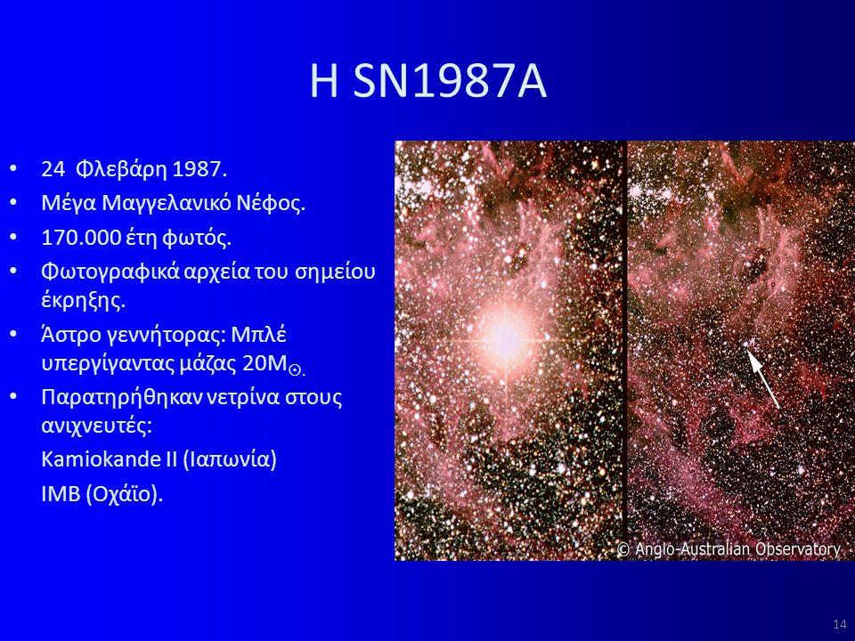 Η SN1987A 24 Φλεβάρη 1987.Μέγα Μαγγελανικό Νέφος.