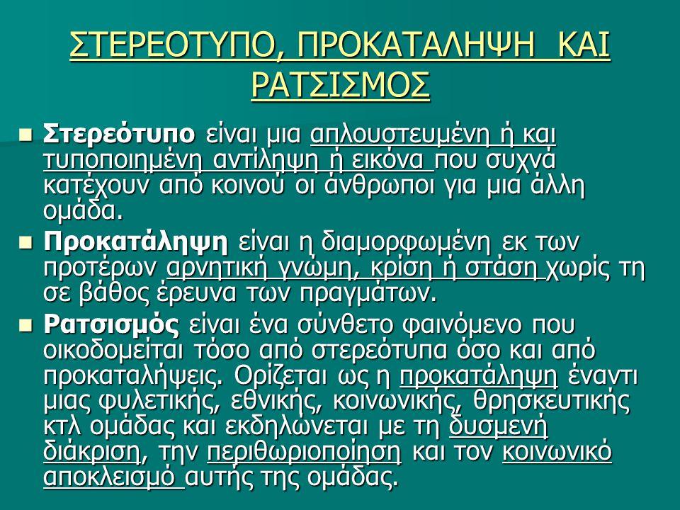 ΔΙΑΚΡΙΣΕΙΣ ΡΑΤΣΙΣΜΟΥ