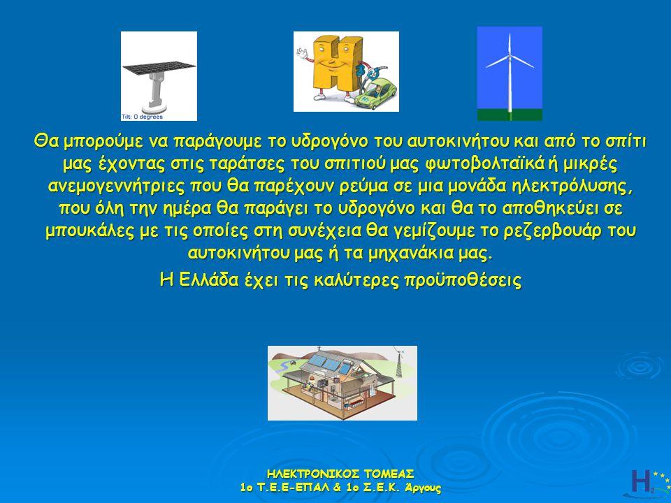Θα μπορούμε να παράγουμε το υδρογόνο του αυτοκινήτου και από το σπίτι μας έχοντας στις ταράτσες του σπιτιού μας φωτοβολταϊκά ή μικρές ανεμογεννήτριες