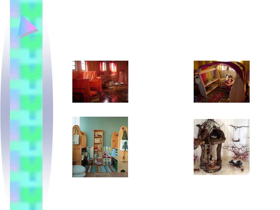Βασικά αντικείμενα: –αρσενικές και θηλυκές εθνικές κούκλες –ρολόι –τηλέφωνο –κουβέρτες για τις κούκλες –άδεια δοχεία και κουτιά φαγητού –πλαστικά τρόφιμα