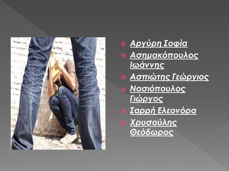  Αργύρη Σοφία  Ασημακόπουλος Ιωάννης  Ασπιώτης Γεώργιος  Νασιόπουλος Γιώργος  Σαρρή Ελεονόρα  Χρυσούλης Θεόδωρος