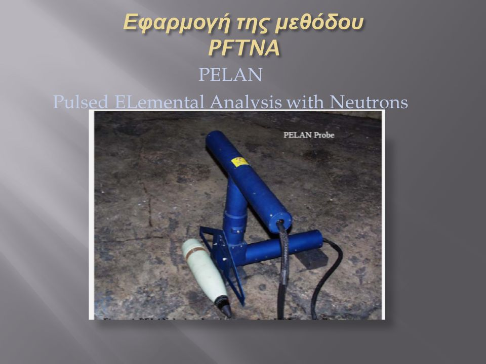 PELAN Pulsed ELemental Analysis with Neutrons