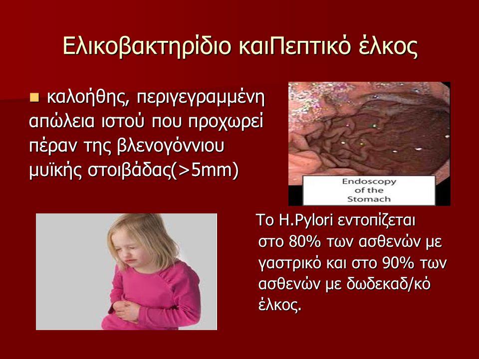 Μικροβιολογία Το ελικοβακτήριο του πυλωρού, αρχικά γνωστό ως Campylobacter Pyloridis, είναι ένα Gram(-) αρνητικό μικροαερόφιλο βακτήριο που εντοπίζεται στον στόμαχο.