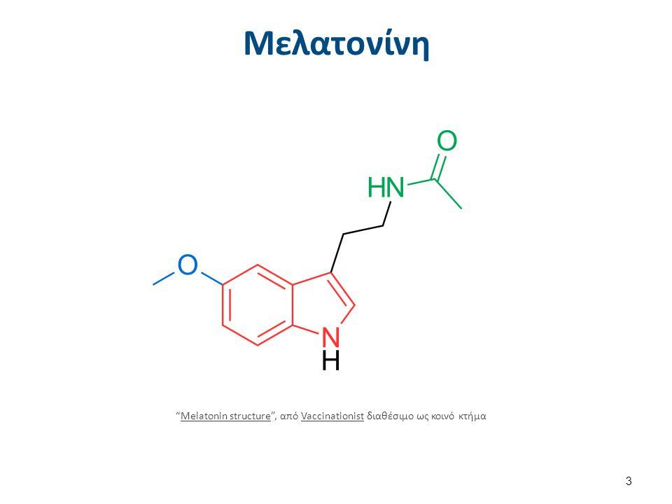 """Μελατονίνη """"Melatonin structure"""", από Vaccinationist διαθέσιμο ως κοινό κτήμαMelatonin structureVaccinationist 3"""