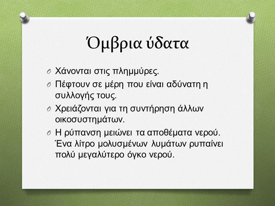 ...ιδιαίτερα χαρακτηριστικά O Η Βόρεια Ελλάδα εξαρτάται από ποτάμια που έρχονται από γειτονικά κράτη.