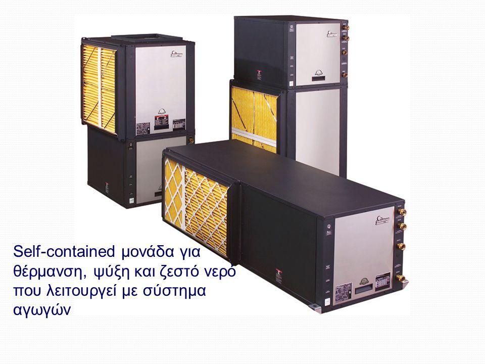 Geothermal Heat Pumps Self-contained μονάδα για θέρμανση, ψύξη και ζεστό νερό που λειτουργεί με σύστημα αγωγών