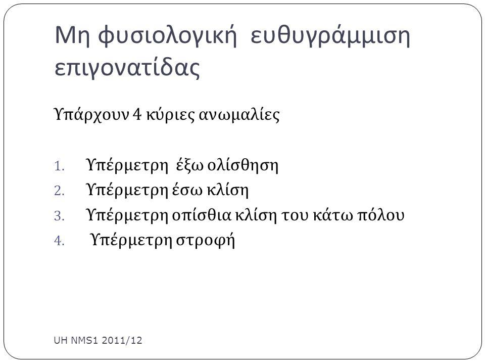 Patellofemoral Taping UH NMS1 2011/12 Είναι σχεδιασμένο να διορθώνει ανισορροπίες Η να αποφορτίσει τις επώδυνες κατασκευές π.