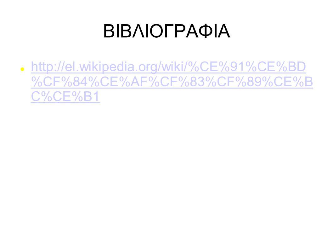 ΒΙΒΛΙΟΓΡΑΦΙΑ http://el.wikipedia.org/wiki/%CE%91%CE%BD %CF%84%CE%AF%CF%83%CF%89%CE%B C%CE%B1 http://el.wikipedia.org/wiki/%CE%91%CE%BD %CF%84%CE%AF%CF