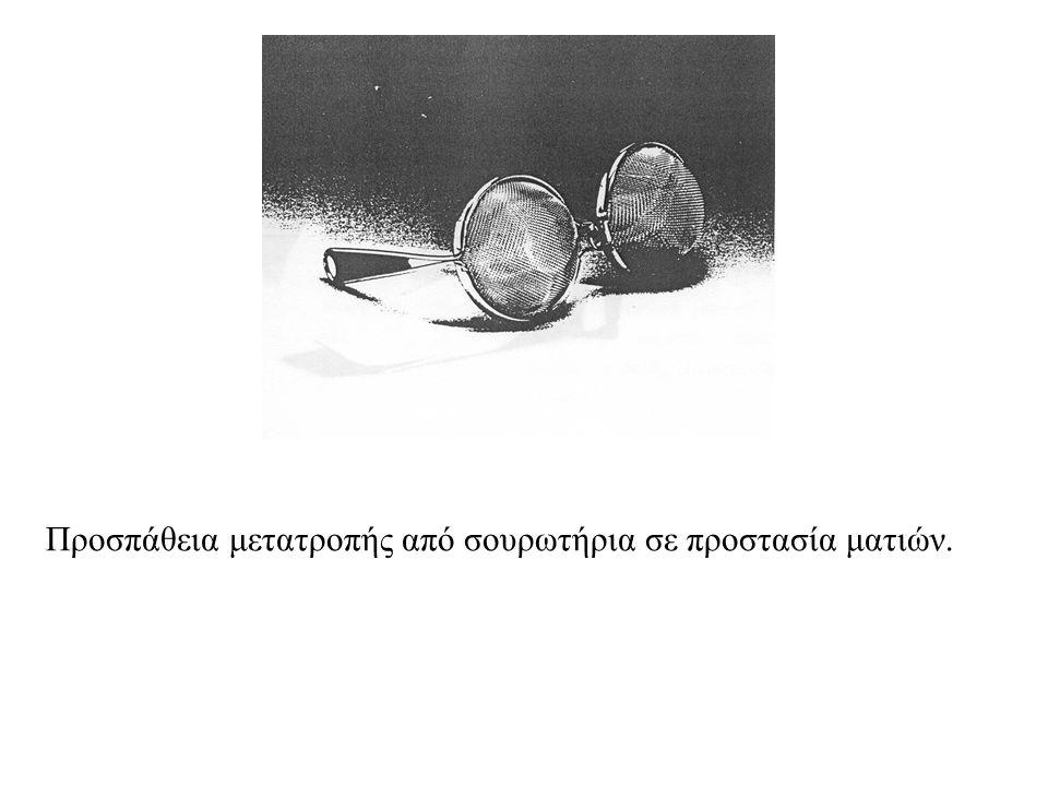 Προσπάθεια μετατροπής από σουρωτήρια σε προστασία ματιών.