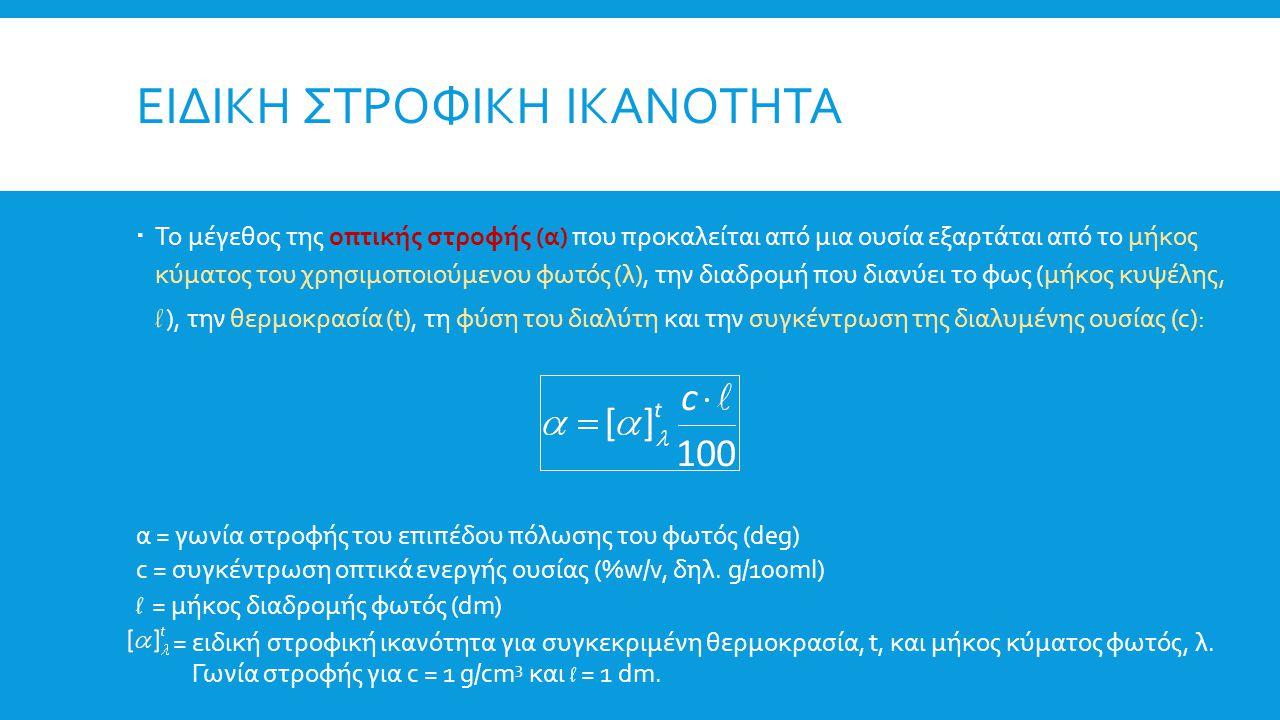 ΠΟΛΩΣΙΜΕΤΡΟ  Πηγή ακτινοβολίας: λυχνία ατόμων νατρίου (ράβδωση D νατρίου), με μονοχρωματικό φως (λ=589,3 nm).