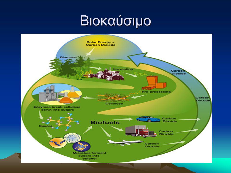 Χαρακτηριστικά Τα βιοκαύσιμα προέρχονται από οργανικά προϊόντα και θεωρούνται ανανεώσιμα καύσιμα.