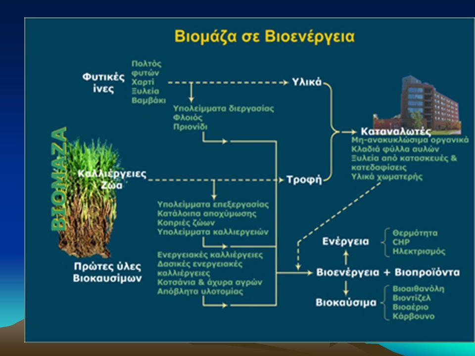 Σύγχρονη βιομάζα Αφορά χρήσεις μεγάλης κλίμακας και σκοπό να υποκαταστήσει τις συμβατικές ενεργειακές πηγές των ορυκτών καυσίμων.