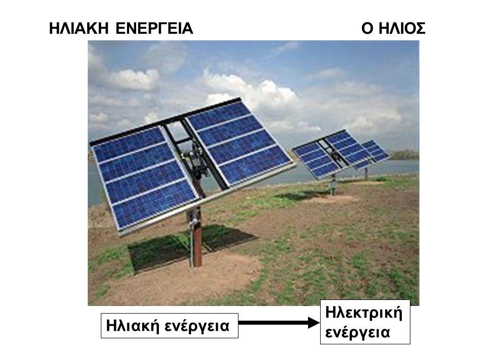ΗΛΙΑΚΗ ΕΝΕΡΓΕΙΑΟ ΗΛΙΟΣ Ηλιακή ενέργεια Ηλεκτρική ενέργεια