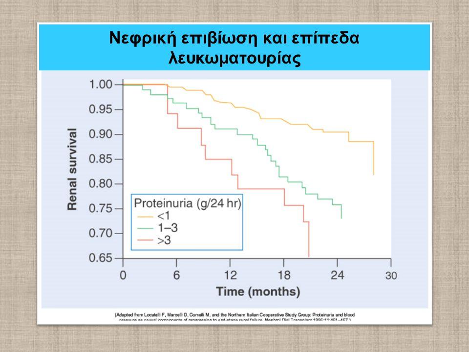 Νεφρική επιβίωση και επίπεδα λευκωματουρίας