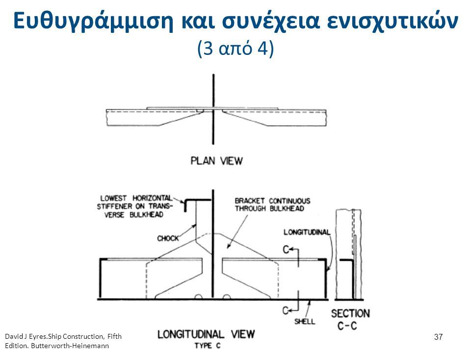 Ευθυγράμμιση και συνέχεια ενισχυτικών (3 από 4) 37 David J Eyres.Ship Construction, Fifth Edition. Butterworth-Heinemann