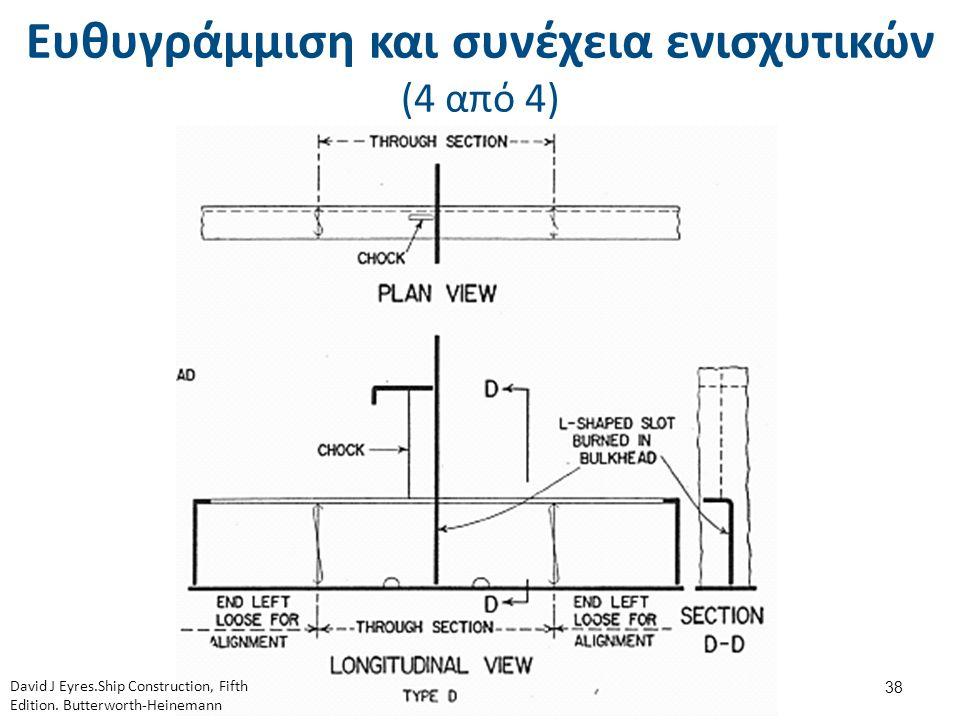 Ευθυγράμμιση και συνέχεια ενισχυτικών (4 από 4) 38 David J Eyres.Ship Construction, Fifth Edition. Butterworth-Heinemann